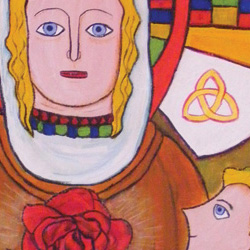 Rose of E'irinn (The Book of Kells) Note Card Set