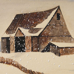 Snow Barn Note Card Set